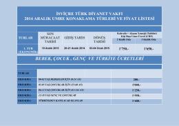 2014_Aralik_Umre_Fiyat - İsviçre Türk Diyanet Vakfı