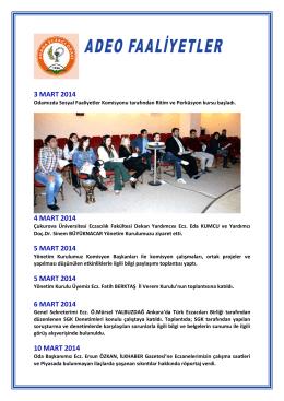 3 MART 2014 - Adana Eczacı Odası