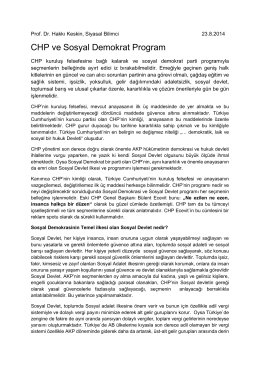 CHP ve Sosyal Demokrat Program
