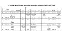 2014-2015 öğretim yılı güz yarıyılı jeodezi ve fotogrametri