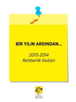 BİR YILIN ARDINDAN... 2013