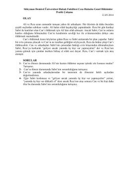 Ceza Hukuku Genel Hükümler II 12.05.2014 Dersi