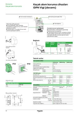 iDPN Vigi Boyut - Schneider Electric