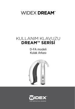 Kullanım Klavuzu dream™ SeriSi