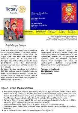 PowerPoint Sunusu - Gebze Rotary Kulübü