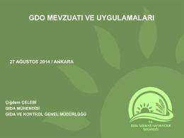 """""""Gıda ve Yemlerde GDO Mevzuatının Uygulanması"""" konulu Eğitim"""