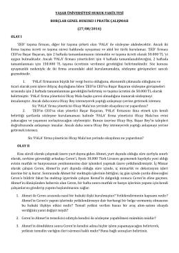 (27/08/2014) OLAY I - Hukuk Fakültesi