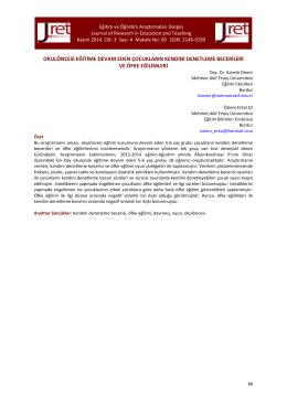 09. Demir - Eğitim ve Öğretim Araştırmaları Dergisi
