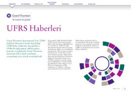 UFRS Haberleri 2014 1. Çeyrek