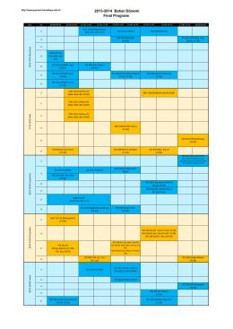 2013-2014 Bahar Dönemi Final Programı için tıklayınız.