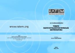 Radyo ve Televizyon Yayıncılığı Sektör Raporu