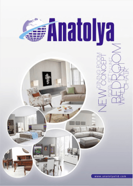 Katalogu İndir - anatolya e