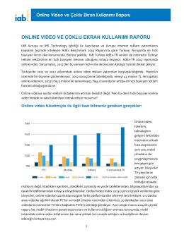 onlıne vıdeo ve çoklu ekran kullanımı raporu