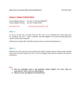2014-2015 Ödev - Makina Mühendisliği Bölümü