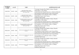 2014 Hac Seminer Tarihleri