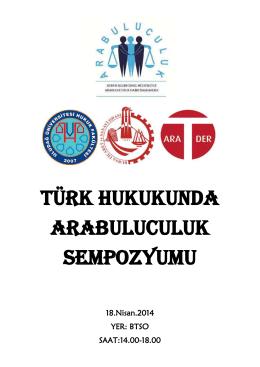 türk hukukunda arabuluculuk sempozyumu