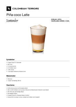 Piña-coco Latte