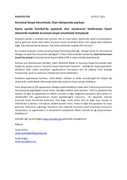 Basın Bülteni - Kadir Has Üniversitesi