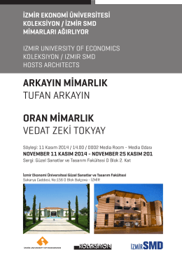 İzmir Ekonomi Üniversitesi Güzel Sanatlar ve Tasarım Fakültesi