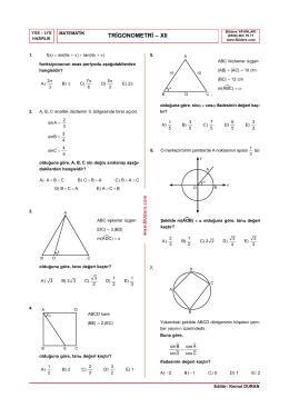 Trigonometri Testi-12