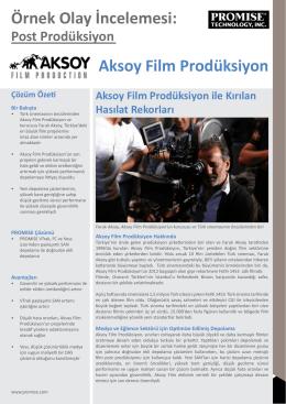 Örnek Olay İncelemesi: Aksoy Film Prodüksiyon