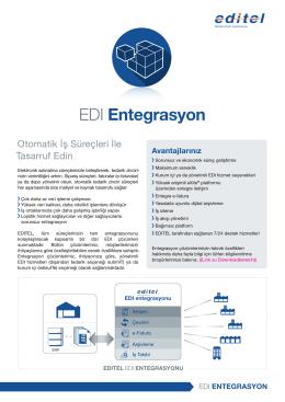 Bilgi broşürü: EDI Entegrasyon