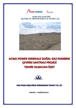 acwa power kırıkkale doğal gaz kombine çevrim santrali projesi