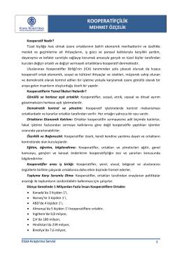 kooperatifçilik - Konya Ticaret Odası