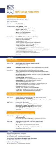 konferans programı - Travel Turkey İzmir, Turizm Fuar ve Konferansı