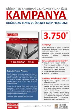 Kampanya Broşürü