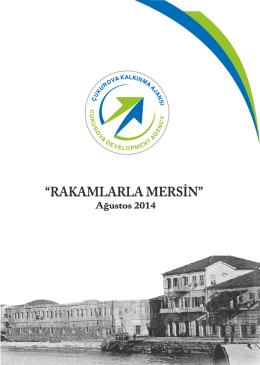 Rakamlarla Mersin(2014) - Çukurova Kalkınma Ajansı