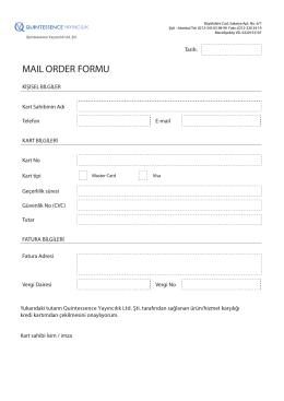 maıl order formu
