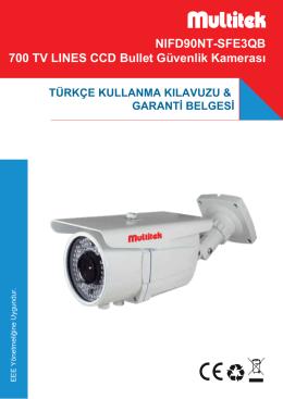NIFD90NT-SFE3QB 700 TV LINES CCD Bullet Güvenlik