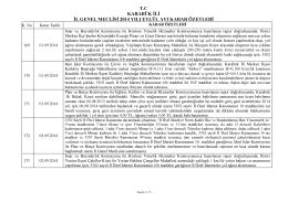 2014 yılı eylül ayı il genel meclisi karar özetleri