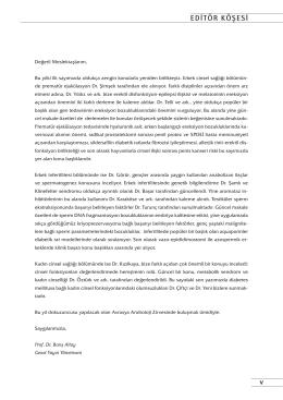 EDİTÖR KÖŞESİ - JournalAgent