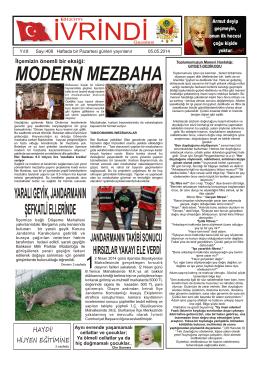 MODERN MEZBAHA - İvrindi Gazetesi