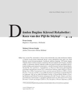 Kees van der Pijl ile Söyleşi - Atılım Üniversitesi | Sosyal Bilimler
