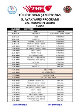 Program - Türkiye Motosiklet Federasyonu