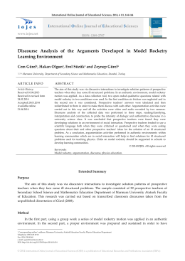 Discourse Analysis of the Arguments Developed in Model Rocketry