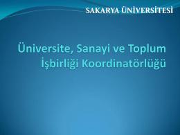 PowerPoint Sunusu - Sakarya Üniversitesi Uzaktan Eğitim Araştırma