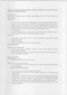 Konjuge Meningokok Aşısı Uygulama Kuralları