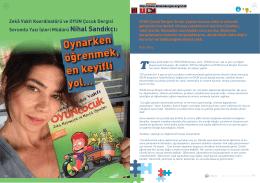 Zekâ Vakfı Koordinatörü ve OYUN Çocuk Dergisi Sorumlu Yazı İşleri