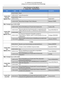 Eğitim Programı - Çölleşme ve Erozyonla Mücadele Genel Müdürlüğü