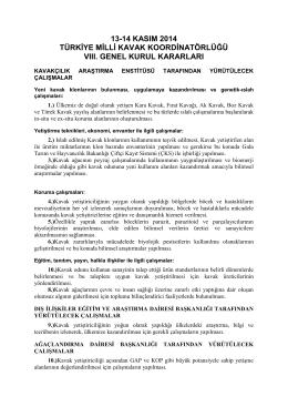 TMKK 8. Genel Kurul Kararları
