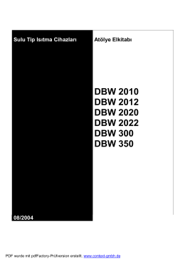 DBW Isıtıcı Atolye El Kitabı