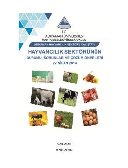 ADIYAMAN 22 NİSAN 2014 - Adıyaman Üniversitesi