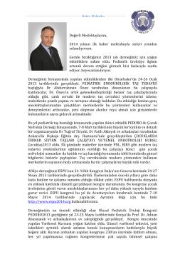 Haber Mektubu - Pediatrik Üroloji Derneği