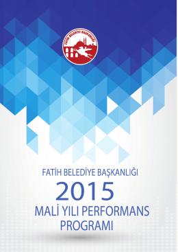 2015 Mali Yılı Fatih Belediye Başkanlığı