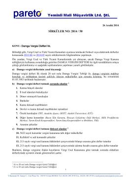 sırk-14-50 damga vergisi defteri hk