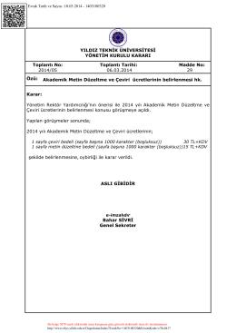 2014-05-29-Akademik Metin Düzeltme ve Çeviri ücretleri hk.